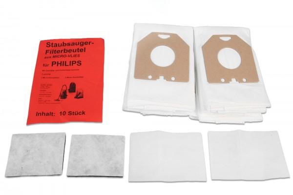 10 Staubsaugerbeutel für Philips Vlies - Ersatz für Swirl PH 84