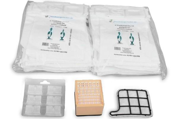 Sparset geeignet für Kobold 135, 136: Aktivfiltersystem, Staubsaugerbeutel, Motorfilter
