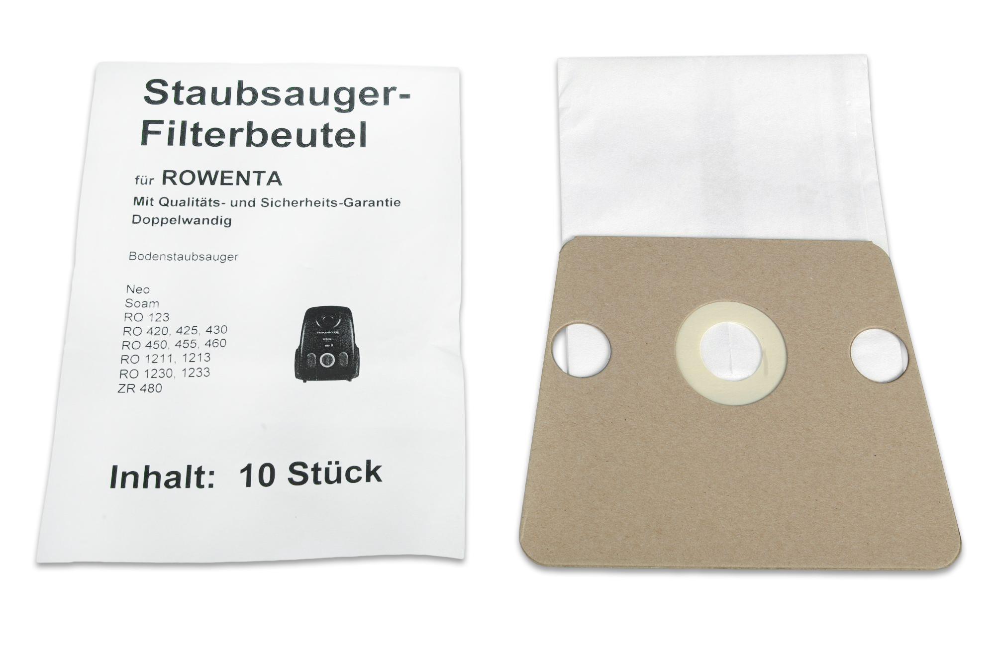RO 1233 10  Staubsaugerbeutel  geeignet für Rowenta ZR-480