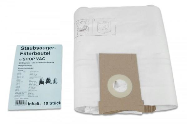 4 Staubsaugerbeutel für SHOP-VAC PRO 25 Liter S Filtersäcke Staubbeutel