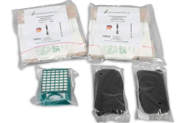 Sparset geeignet für Kobold 130, 131: Aktivfiltersystem, Aktivkohlefilter, Staubsaugerbeutel