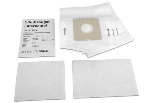 10 Staubsaugerbeutel für Zelmer u.a. Ersatz für Swirl Z 113