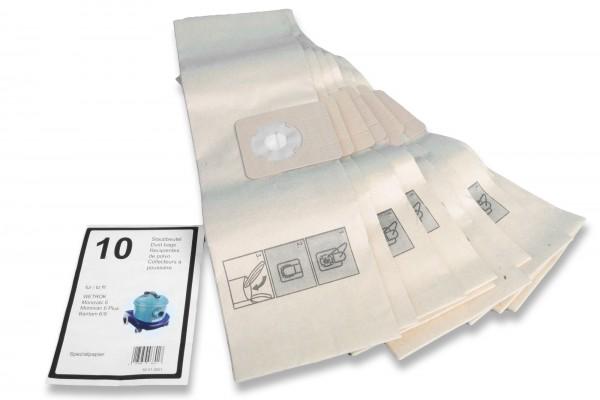 10 Premium Staubsaugerbeutel passend für Wetrok Monovac 6, Bantam 6/9