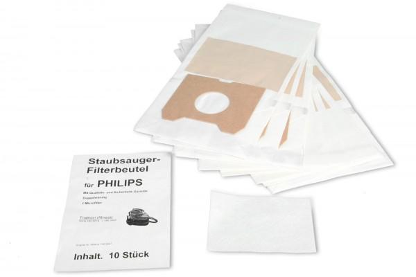 10 Staubsaugerbeutel Ersatz für Philips Athena - Swirl PH85
