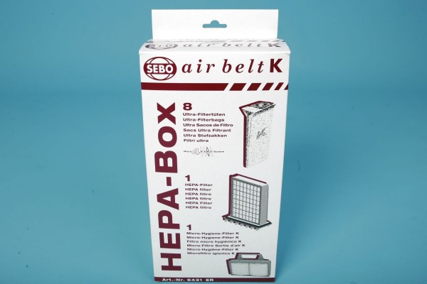 Sebo Hepa Box Airbelt-K Serie Filtration