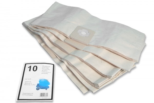 10 Staubsaugerbeutel Wetrok Monovac 9,11 Plus