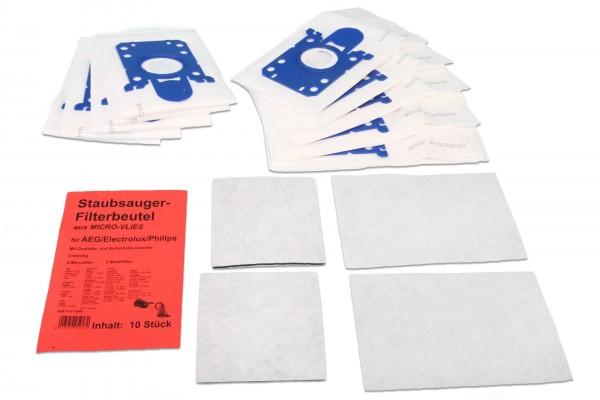 10 Staubsaugerbeutel Vlies für Philips, AEG, Electrolux Ersatz für Swirl PH 86/PH 96