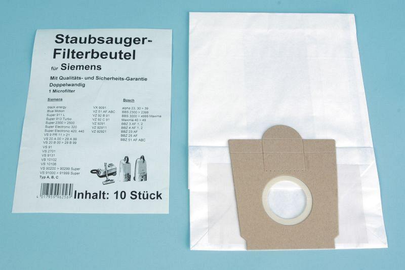 staubsaugerbeutel s64 s66 f r siemens bosch privileg staubsauger typ a b c. Black Bedroom Furniture Sets. Home Design Ideas