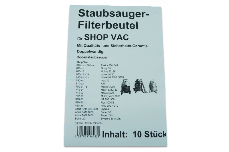 g nstige staubsaugerbeutel f r staubsauger mit 30 liter volumen uni 30. Black Bedroom Furniture Sets. Home Design Ideas