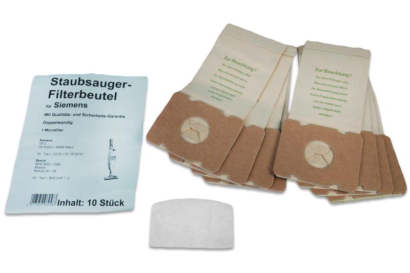 g nstige staubsaugerbeutel f r siemens bosch rapid ersatz f r swirl s65 siemens typ l. Black Bedroom Furniture Sets. Home Design Ideas